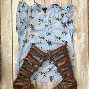 Shirt and gladiator sandals